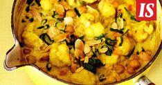 Ilta-Sanomien toimittaja Annastiina Lehtonen testasi reseptin Henri Alénin uudesta kirjasta. Chana Masala, Paella, Cauliflower, Recipies, Vegetables, Cooking, Ethnic Recipes, Food, Italia