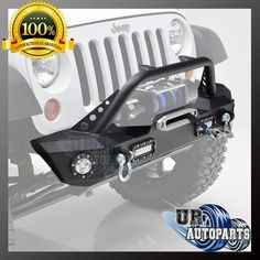 Front Bumper With LED Lights&D-rings&Winch Plate for 07-17 Jeep Wrangler JK | eBay Motors, Parts & Accessories, Car & Truck Parts | eBay!