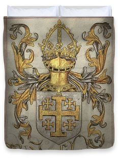 King Of Jerusalem, Coat Of Arms, Medieval, Digital Art, Greeting Cards, Plates, Times, Wall Art, Book