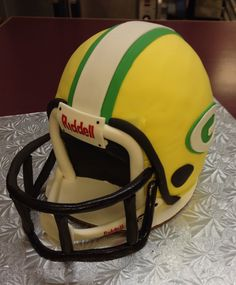 Green Bay Packers football helmet cake