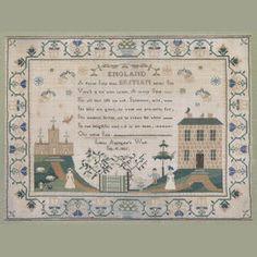A good second quarter 19th Century needlework sampler, 'Louisa Applegate's Work/Sep 10. 1835'