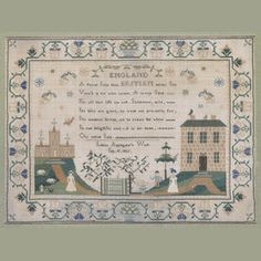A good second quarter 19th Century needlework sampler, 'Louisa Applegate's Work/Sep 10. 1835'