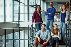 Stock Photo : Portrait of group of creative business people