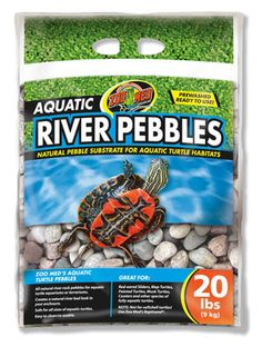 All-natural river rock pebbles for aquatic #Turtle #Aquarium or #Terrariums. Creates a natural river bed look in your enclosure. Safe for all sizes of aquatic turtles. Easy to clean and reusable.