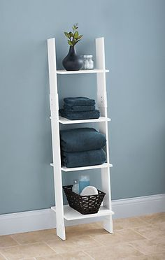 Zenith Ladder Style Linen Tower - White | The Home Depot Canada