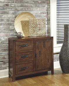 Accent Cabinet Relaxed and casual, this accent furniture collection has details that make a statement in the environment we choose to live in