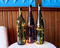 Americana Lighted Wine Bottle  Wine Gifts  Wine by ClassyGarbage