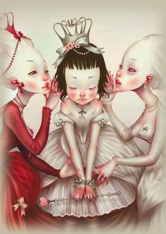 Alice and the queens by Lostfish  http://lostfish.fr/