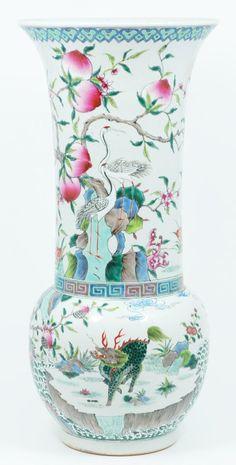 19th C Chinese porcelain famille rose vase-Elite Decorative Arts   1034 Gateway Blvd., Suite 106   Boynton Beach, FL 33426     Ph: 561-200-0893 Fx: 561-536-4123   E-mail: info@eliteauction.com