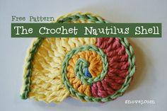 Crochet Freeform Shell - Tutorial ❥ 4U // hf