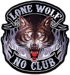 Lone Wolf patch - Aufnäher Einsamer Wolf - chevron Lobo Solitario - нашивка Одинокий Волк