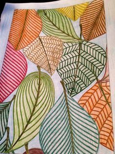 Print I eat ideas Fall Art Projects, Atelier D Art, Autumn Art, Leaf Art, Elements Of Art, Art Club, Art Activities, Art Plastique, Teaching Art