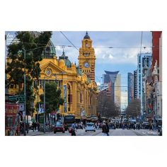 The majestic Flinders Street Station, shot from Russell Street. Isn't it just looking incredible from this angle?