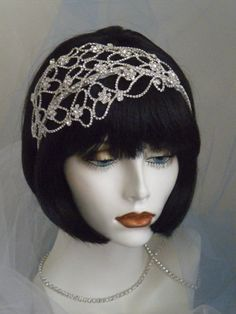 1920's Headpiece Flapper Headband Gatsby by elisevictoriadesigns, $98.00