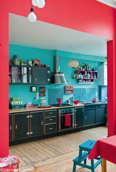 Une cuisine tout en couleurs ! #dccv #cuisine #kitchen