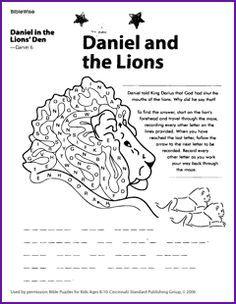 Bible story worksheets for kindergarten