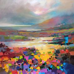 Palate knife abstract landscape painting