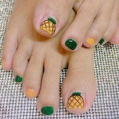 Gel Toe Nails, Simple Toe Nails, Cute Toe Nails, Red Acrylic Nails, Feet Nails, Toe Nail Art, Nail Art Designs Videos, Toe Nail Designs, Nail Swag