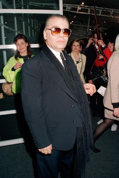 1991 - Karl Lagerfeld - Before he began wanting to wear skinny clothes