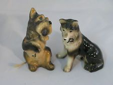 Old Salt and Pepper Shakers Scottie and Collie Dogs--Japan
