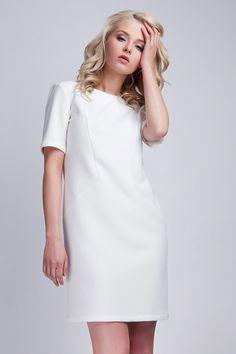 Casual Chic, Formal Cocktail Dress, Look Chic, Dress Backs, Cold Shoulder Dress, White Dress, Short Sleeve Dresses, Formal Dresses, Party Dresses