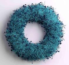 """Angela O'Kelly: """"Tufty Necklace"""", hand dyed paper cord, felt, wire, 420mm diameter, 110mm"""