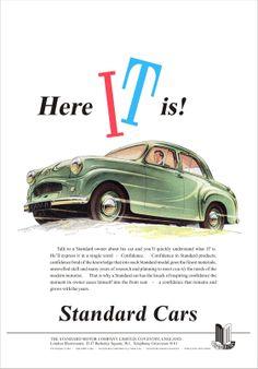 Car Advert Standard Ten British Car, Classic Mercedes, Car Posters, Car Advertising, S Car, Brochures, Old Cars, Motor Car, Vintage Cars