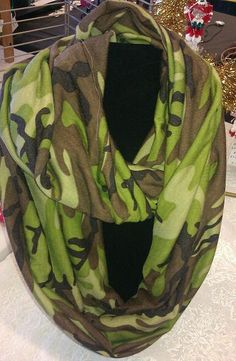 A personal favorite from my Etsy shop https://www.etsy.com/listing/127990503/infinity-scarf-green-camouflage