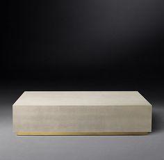 Graydon Shagreen Plinth Rectangular Coffee Table