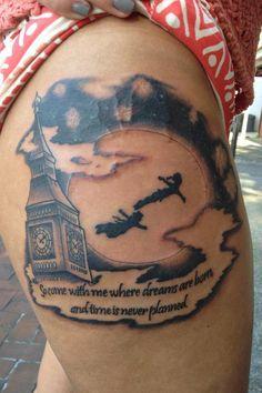 Peter Pan tattoo.