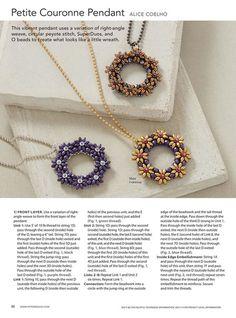 Small wreath with superduo, tutorial. Beaded Jewelry Designs, Handmade Jewelry, Super Duo Beads, Twin Beads, Bead Weaving, Beaded Earrings, Jewelry Making, Wall Photos, Beading