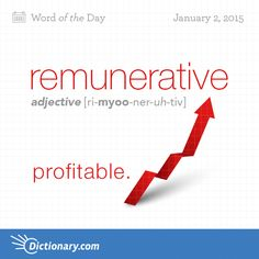 Dictionary.com's Word of the Day - remunerative - affording remuneration