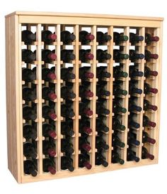 Wooden 64 Wine Bottle Deluxe Cabinet Style Wine Rack Storage Kit (Ponderosa Pine) by Wine Racks America Living Series®. $234.37. Styled to appear as wine rack furniture, this wooden wine rack will match existing decor while storing 64 bottles of wine. Designed to look like a freestanding wine cabinet, the solid top and sides promote the cool and dark storage area necessary for aging wine properly. Your satisfaction and our racks are guaranteed. With same day free shipping, t...