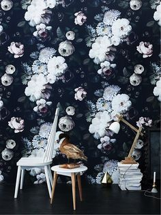 Such beautiful wallpaper - The Design Files TOTAL GORGEOUSNESS!! #️⃣