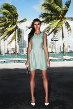 #green #model #fashion #miami #style