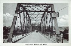 Postcard Photogelatine Engraving Co, Findlay Bridge, Medicine Hat, Alberta. Gas City, All About Canada, Western Canada, Canadian History, Saint George, Alberta Canada, Ottawa, Roads, Cool Art
