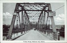 Findlay Bridge, Medicine Hat, Alberta.. Ottawa: Photogelatine Engraving Co. Ltd. Ottawa, c1936.