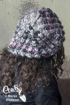 CraSy, Kopf und Kragen - Sylvie Rasch - Modell Bohemian Crochet Hats, Fashion, Accessories, Man Scarf, Headboard Cover, Men And Women, Scarves, Scale Model, Knitting Hats