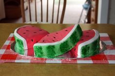 Watermellon Cake By PenP on CakeCentral.com