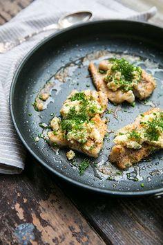 Smörstekt fisk med örter och kronärtskockspuré - Landleys Kök Food N, Fish, Chicken, Dinner, Cooking, Drinks, Beautiful, Dining, Kitchen