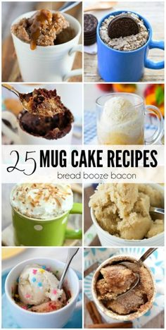 Dessert is my favorite course in any meal, but I don't need an entire cake staring me down after I bake. That's why I love the 25 Mug Cake Recipes. They're the prefect little, single serving dessert for any occasion.