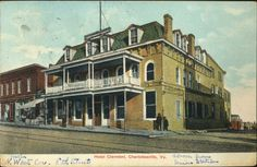 Hotel Clermont, Charlottesville, Virginia from University of Virginia Visual History Collection; Albert and Shirley Small Special Collections Library, University of Virginia.