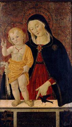 Caporali Bartolomeo - Madonna col Bambino e l'uccellino - 1484 - Museo Nazionale di Capodimonte, Napoli