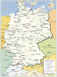 Map of Germany and Austria | Europe in 2019 | Germany, Germany