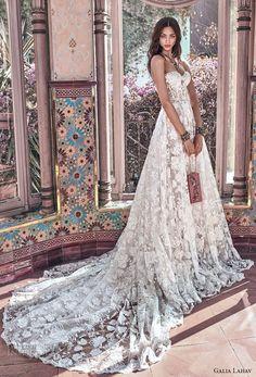 galia lahav spring 2018 bridal strapless sweetheart neckline full embellishment romantic princess a line wedding dress mid back chapel train (georgia) mv -- Galia Lahav Spring 2018 Wedding Dresses