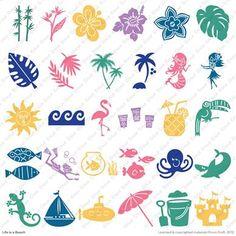 Cricut® Life is a Beach Cartridge  For Skyes bedroom decor
