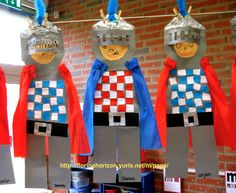 Ridders met borststuk van gevouwen16 vierkantjes. Art For Kids, Crafts For Kids, Arts And Crafts, Hl Martin, Castles Topic, Chateau Moyen Age, Preschool Summer Camp, A Knight's Tale, Art Activities For Toddlers