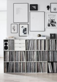 awesome record shelves - palaset - designed by finnish designer Ristomatti Ratia