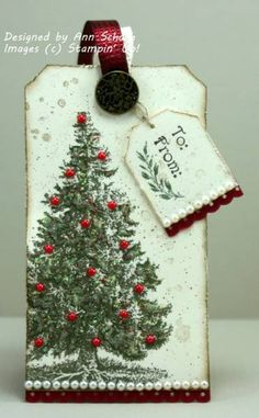 Christmas Lodge Tree Tag by bbcrazy - Cards and Paper Crafts at Splitcoaststampers