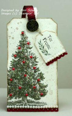 #Christmas Lodge #Tag  #stampin up